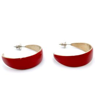 Boucles d'oreille creole rubis