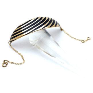 Bracelet arrt déco en bronze avec émaux